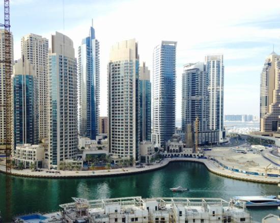 Superior Marina View Hotel Apartments: View Of Dubai Marina From Top Floor Room 1305