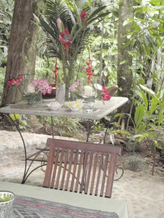 Waterfall Villas: Table in dinning area