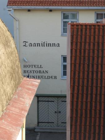 Taanilinna Hotell: The hotel from the nearby city walls