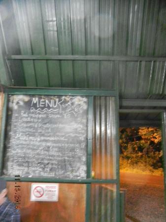 Fire Side Inn - Georges' Grill: Menu board