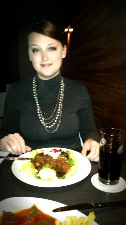 DDR-Restaurant Domklause : Goulash with potatoes. Delicious and more than any one person could eat!!