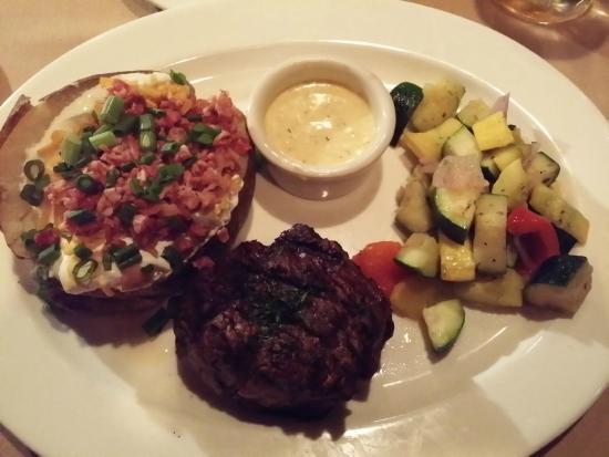 Top of Binion's Steakhouse : 10-oz Filet Mignon