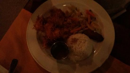 Ginger coconut shrimp