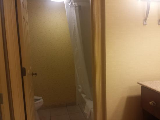 Homewood Suites by Hilton Raleigh/Cary: Bathroom toilet and shower