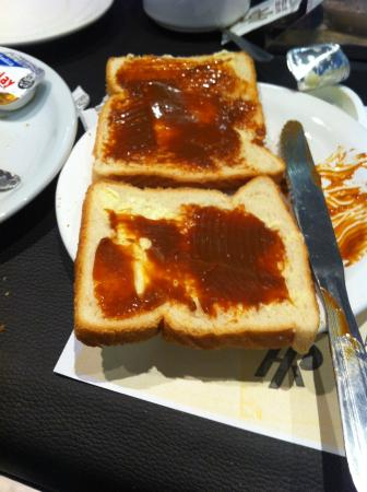 San Remo Grand Hotel: desayuno, pan con dulce