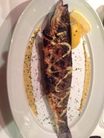 Peixe grelhado delicioso