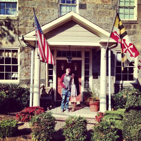 The Wayside Inn: My husband and I outside of the Inn