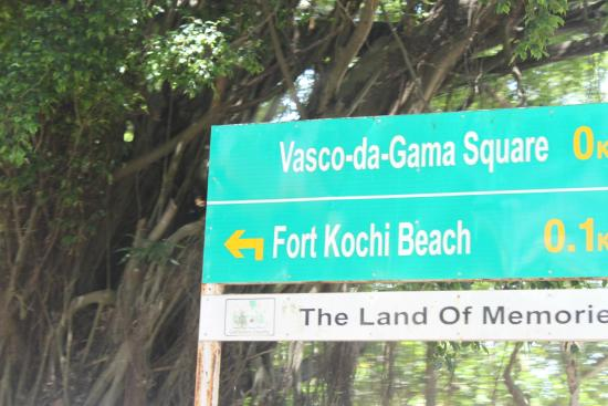 Vasco da Gama square - sign board