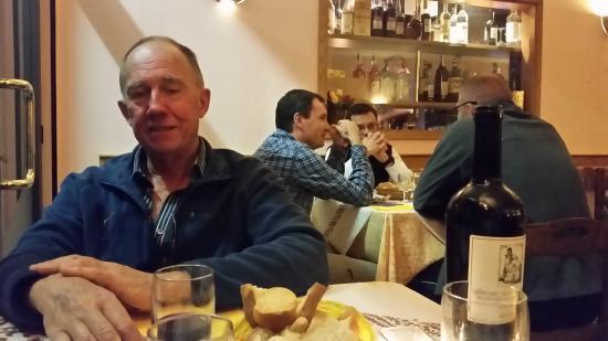 Albergo Caprile : Evening dining area.