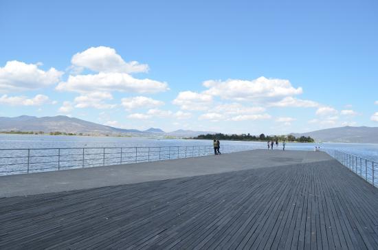 Laguna de Yuriria: Vista del muelle