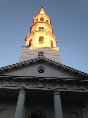 St. Michael's Church: Steeple at sundown