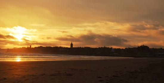 Craigtoun Meadows Holiday Park: St Andrews as seen from the West Sands beach, on an Autumn morning