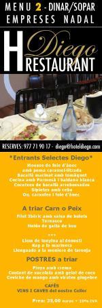 Restaurant Diego-La Terrassa by Sonia: CENAS DE EMPRESA EN TARRAGONA CON MENU GASTRONOMICO