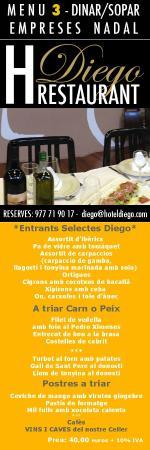 Hotel Gastronómico-Hotel Restaurant Diego: CENAS DE EMPRESA EN TARRAGONA CON MENU GASTRONOMICO