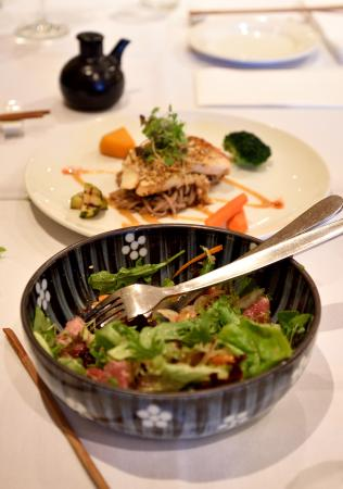 Shiranui: Beef salad and grilled sea perch