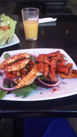 Pappa Caffs: Cajun chicken & sweet potato fries