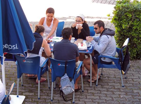 Camping 1ª O Muiño - Bungalow Park: Terraza Cafeteria