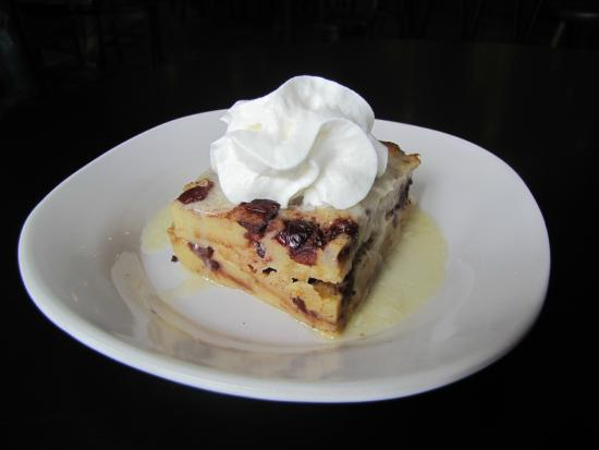The Governor's Pub: Cranberry Bread Pudding, topped w/ Warm Ginger Brandy Sauce