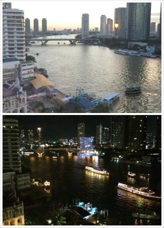 Mandarin Oriental, Bangkok : Day/Night view of the River