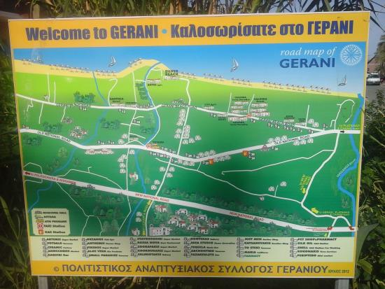 Gerani, Grekland: How to find us, we are no. 20 on the map