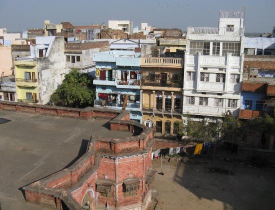 Ganga Yogi Lodge: Вид с крыши