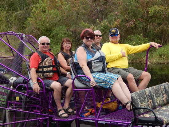 Alligator Cove Airboat Nature Tours : A before tour photo op!