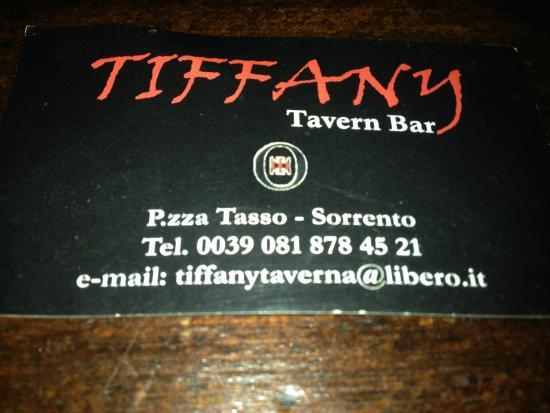 Tiffany Club Sorrento : Tiffany