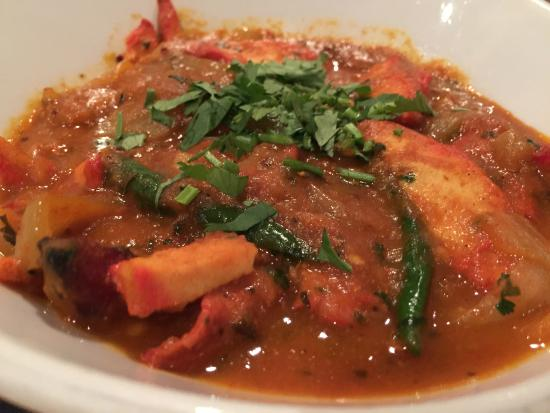 The king prawn starter is an assault on the taste buds for Abduls indian bengali cuisine