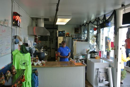 Captain Bob's Chowder: Captain Bob serving up some great galley dishes.