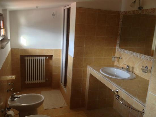bedbreakfast la villa bagno privato con doccia e riscaldamento