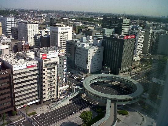 Hotel Associa Shin-Yokohama: Panorama dalla camera