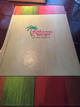 Bahama Breeze: Menu