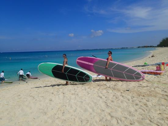 Cayman Stand Up Paddle Co: Getting ready to paddle board
