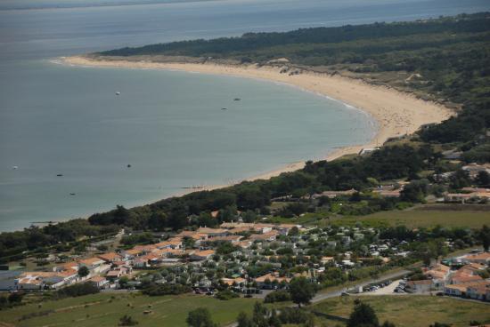 Camping La Plage: Vue aérienne avec vue plage de La Conche