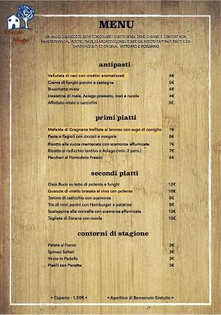 Torreglia, Italien: menu
