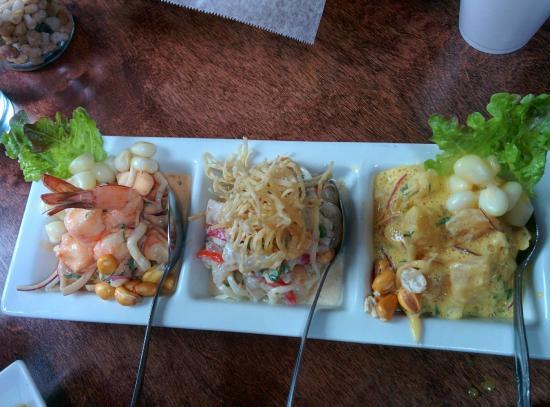 El Tule Authentic Mexican & Peruvian Restaurant : Ceviche trilogy