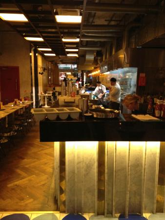 Byron Westbourne Grove: A view from the inside of the restaurant!