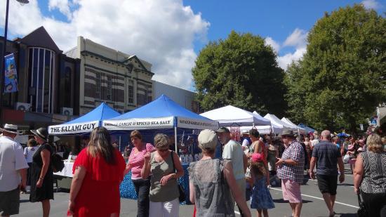 Nelson Saturday Market: Mercado de sábado em Nelson