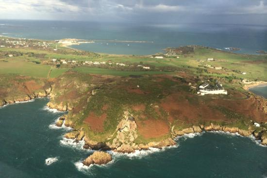 Alderney with Braye Beach hotel in the background