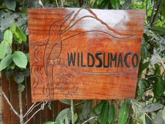 Wildsumaco Lodge: Entry Sign