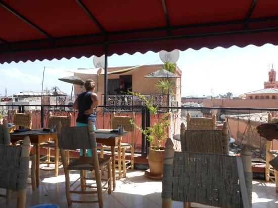 Terraza Del Zaza Picture Of Cafe Chez Zaza Marrakech