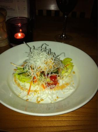 Red Onion: Bang bang chicken salad