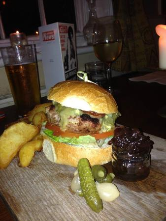 The Wheelwrights Arms: Classic Burger with Kentish Blue