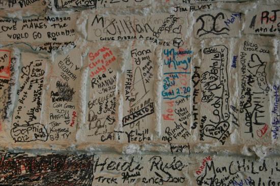 Jack's Deli : Wall of Graffitti Including a Dan Ackroyd Drawing of Beldar
