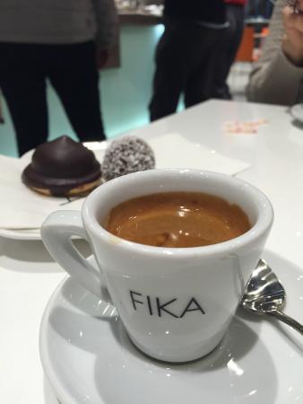 Fika Espresso Bar: Expresso fortíssimo.