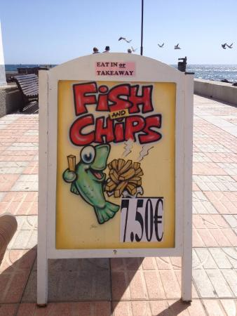 Speciality is fish and chips on a Friday