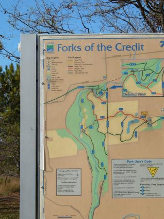 Forks of the credit trails