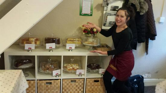 Massey's traditional tea room: A busy day baking...