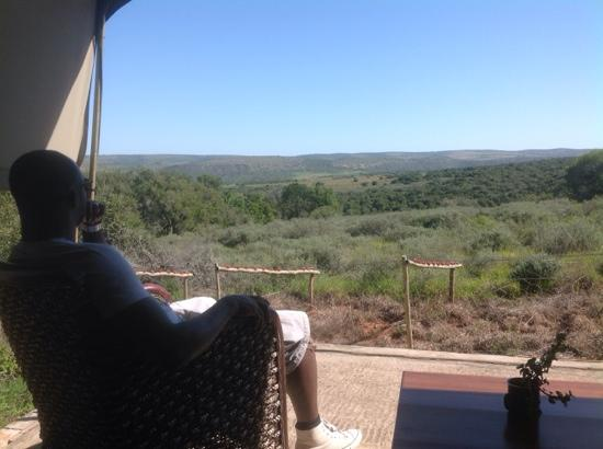 Woodbury Tented Camp, Amakhala Game Reserve: view from tent three