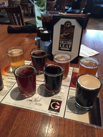Granite City Food And Brewery : A flight of beer......not in-flight beer.